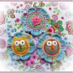 Lovely Flowers With Owls Crochet Pa..