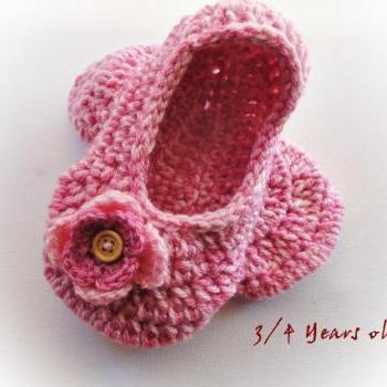 Buy Pink Crochet Slippers (Toddler and Adult)