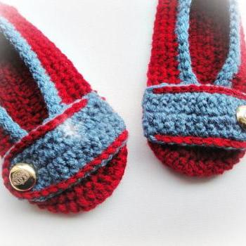 Buy Red/Blue Crochet Slippers / Several Colors